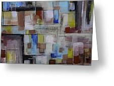 Geometric Modern Painting Original On Canvas Greeting Card