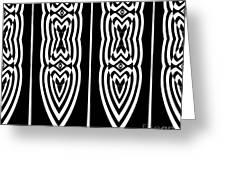 Pattern Geometric Black White Art No.337. Greeting Card by Drinka Mercep