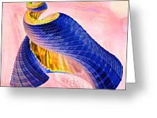 Geometric Shell Art Greeting Card by Deborah Benoit