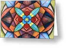 Geometric Symmetry Greeting Card