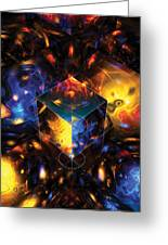 Geometry Amid Chaos Lights Greeting Card
