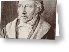 Georg Hegel  Greeting Card