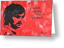 George Best Genius Greeting Card