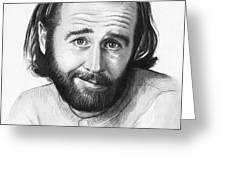 George Carlin Portrait Greeting Card by Olga Shvartsur