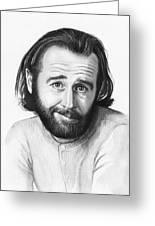 George Carlin Portrait Greeting Card