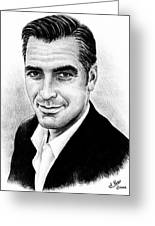 George Clooney Greeting Card by Andrew Read