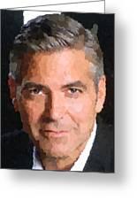 George Clooney Portrait Greeting Card