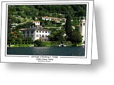 George Clooney Villa.como Greeting Card