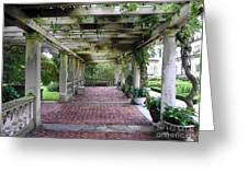 George Eastman Home Pergola Rochester Ny  Greeting Card