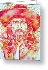 George Harrison With Hat Greeting Card