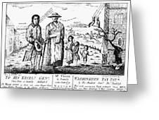 George IIi Cartoon, 1779 Greeting Card