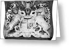 George IIi: Coat Of Arms Greeting Card