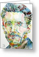 George Orwell Watercolor Portrait Greeting Card