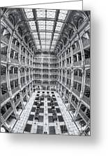 George Peabody Library Iv Greeting Card