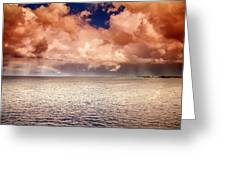 George Town-grand Cayman Rainbow After The Storm Greeting Card