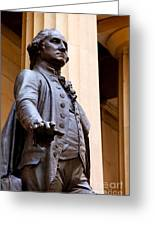 George Washington Greeting Card by Brian Jannsen