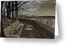 George Washington Bridge From Fort Tryon Greeting Card