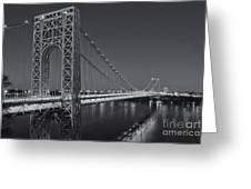 George Washington Bridge Twilight II Greeting Card