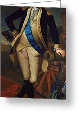 George Washington Greeting Card by Charles Wilson Peale