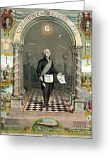 George Washington Freemason Greeting Card
