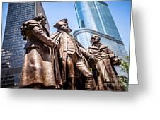 George Washington-robert Morris-hyam Salomon Memorial Statue Greeting Card