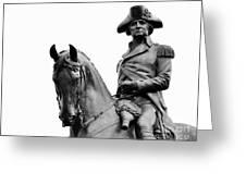 George Washington Statue Boston Ma Greeting Card
