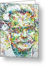 Georges Brassens Portrait Greeting Card