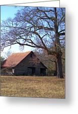 Georgia Barn In Winter Greeting Card