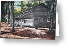 Georgia Cabin In The Woods Greeting Card