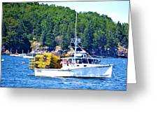 Georgia Madison Lobster Boat Greeting Card