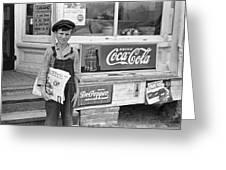 Georgia Newsboy, 1938 Greeting Card