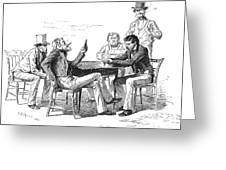 Georgia: Poker Game, 1840s Greeting Card