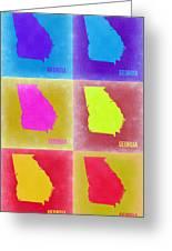 Georgia Pop Art Map 2 Greeting Card