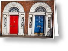 Georgian Doors Greeting Card by Inge Johnsson