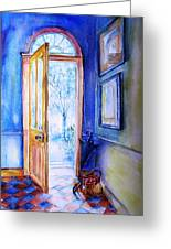Winter Doorway Ireland    Greeting Card