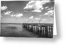 Georgia's St Simon's Island Pier Greeting Card
