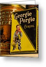 Georgie Porgie Greeting Card