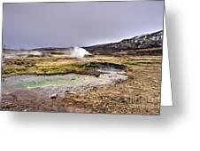 Geothermal Landscape  Greeting Card