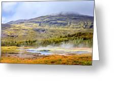 Geothermal Pools Greeting Card