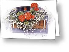 Geraniums Greeting Card