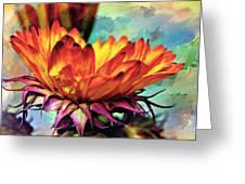 Gerbera Patchwork Greeting Card