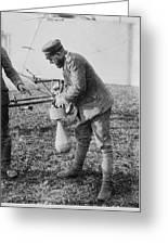 German Aeroplane Bomb, World War I Greeting Card