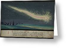 German Comet Illustration Greeting Card