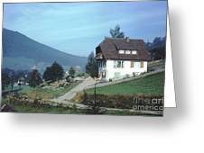German Country Home Greeting Card