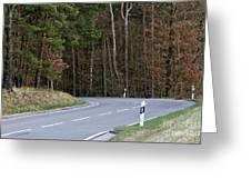 German Country Road Greeting Card