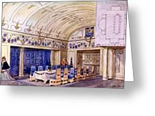 German Dining Hall, Early 20th Century Greeting Card