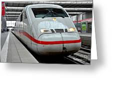 German Ice Intercity Bullet Train Munich Germany Greeting Card