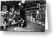 German Rathskellar 1900 Greeting Card