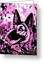 German Shepard In Purples Greeting Card