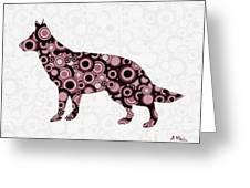 German Shepherd - Animal Art Greeting Card